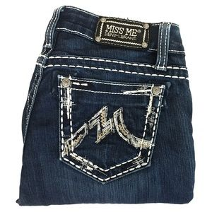 Miss Me Easy Boot Jeans Embroidered Sequins